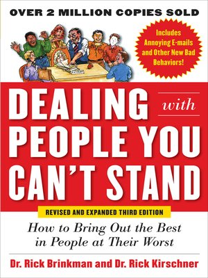 cover image of Dealing with People You Can't Stand