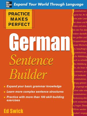 cover image of Practice Makes Perfect German Sentence Builder