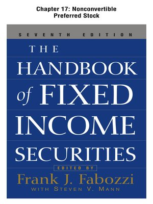 cover image of Nonconvertible Preferred Stock