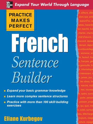 cover image of French Sentence Builder