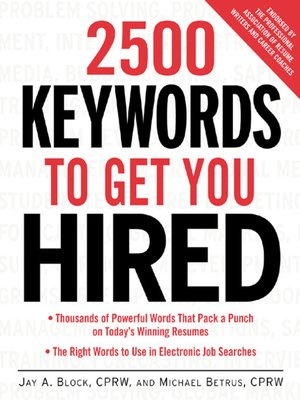 cover image of 2500 Keywords to Get You Hired