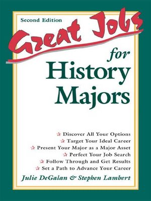 cover image of Great Jobs for History Majors