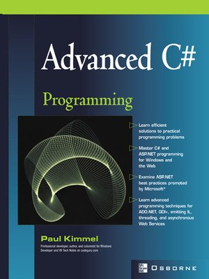 cover image of Advanced C# Programming