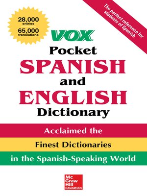 cover image of Vox Pocket Spanish-English Dictionary