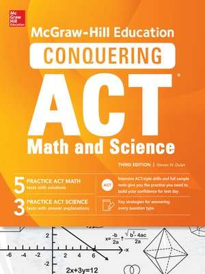 cover image of McGraw-Hill Education Conquering the ACT Math and Science