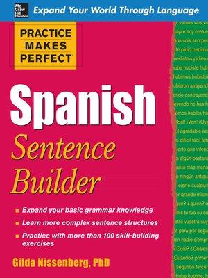 cover image of Spanish Sentence Builder