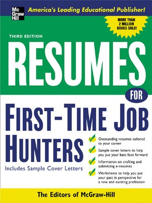 cover image of Resumes for First-Time Job Hunters