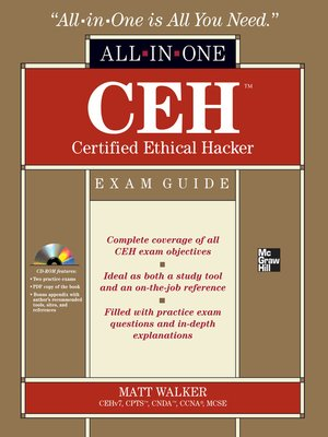 ceh certified ethical hacker all in one exam guide by matt walker rh overdrive com Certified Ethical Hacker PDF ceh v8 certified ethical hacker version 8 study guide pdf