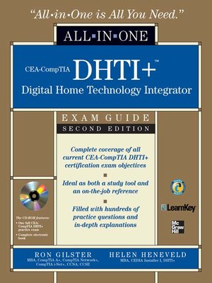 cover image of CEA-CompTIA DHTI+<sup>TM</sup> Digital Home Technology Integrator All-In-One Exam Guide