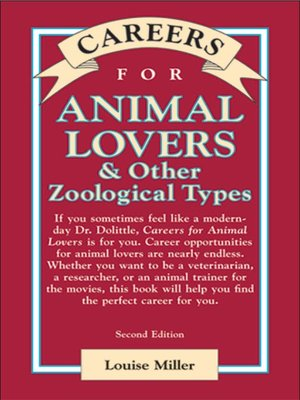 cover image of Careers for Animal Lovers & Other Zoological Types