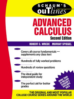 Advanced calculus by robert wrede overdrive rakuten overdrive cover image fandeluxe Gallery