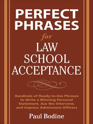 cover image of Perfect Phrases for Law School Acceptance