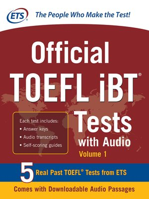 cover image of Official TOEFL iBT Tests with Audio