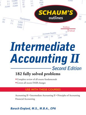 cover image of Schaums Outline of Intermediate Accounting II