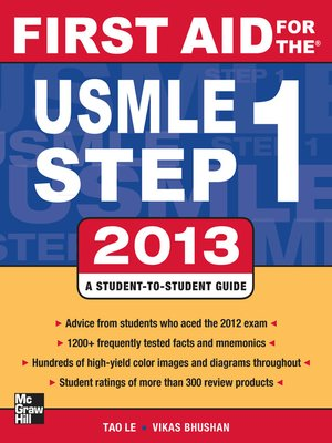 cover image of First Aid for the USMLE Step 1 2013