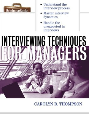 cover image of Interviewing Techniques for Managers
