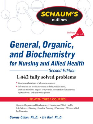 cover image of General, Organic, and Biochemistry for Nursing and Allied Health