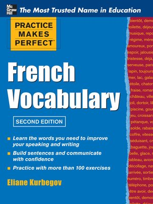 cover image of Practice Makes Perfect French Vocabulary