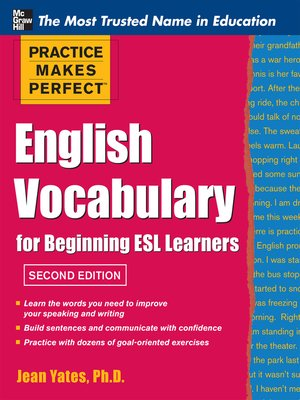 cover image of Practice Makes Perfect English Vocabulary for Beginning ESL Learners