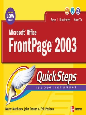cover image of Microsoft® Office FrontPage® 2003