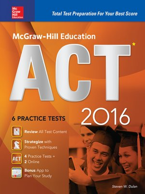 cover image of McGraw-Hill Education ACT 2016 (ebook)