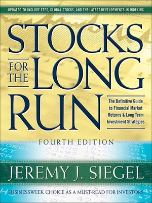 cover image of Stocks for the Long Run