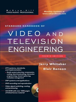 cover image of Standard Handbook of Video and Television Engineering