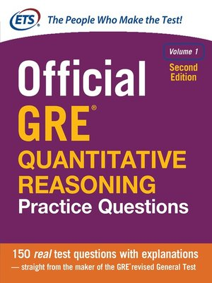 cover image of Official GRE Quantitative Reasoning Practice Questions, Volume 1