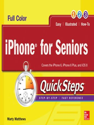 cover image of iPhone for Seniors QuickSteps