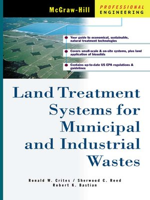 cover image of Land Treatment Systems for Municipal and Industrial Wastes