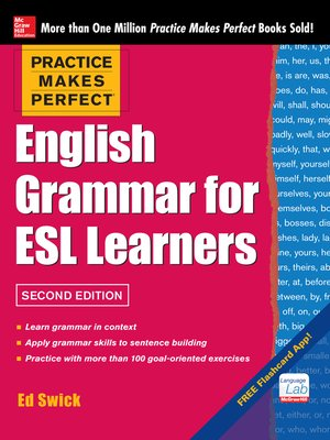cover image of Practice Makes Perfect English Grammar for ESL Learners