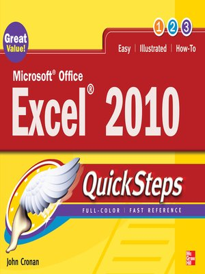 cover image of Microsoft Office Excel 2010 QuickSteps