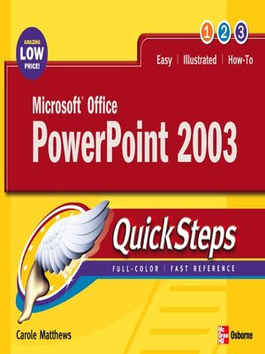 cover image of Microsoft® Office PowerPoint 2003
