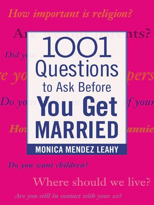 cover image of 1001 Questions to Ask Before You Get Married