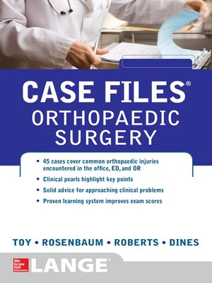 cover image of Case Files Orthopaedic Surgery