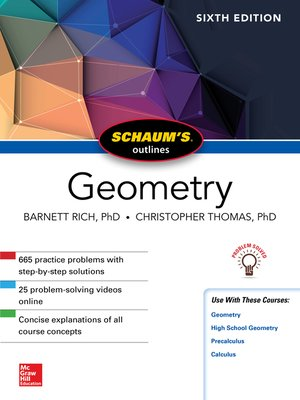 cover image of Schaum's Outline of Geometry