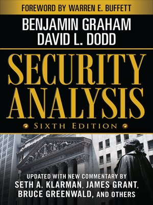 cover image of Security Analysis
