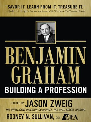 cover image of Benjamin Graham, Building a Profession