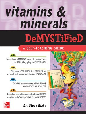 cover image of Vitamins & Minerals Demystified