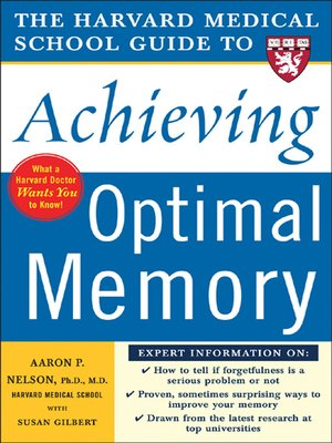 cover image of The Harvard Medical School Guide to Achieving Optimal Memory