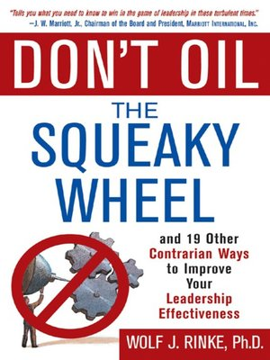 cover image of Don't Oil the Squeaky Wheel