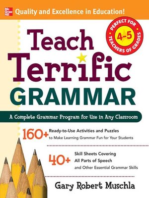 cover image of Teach Terrific Grammar, Grades 4-5
