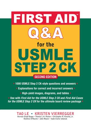 cover image of First Aid<sup>TM</sup> Q & A for the USMLE Step 2 CK