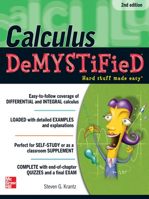 cover image of Calculus DeMYSTiFieD