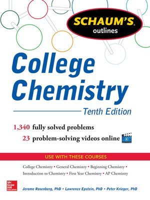 cover image of Schaum's Outline of College Chemistry