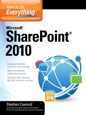 cover image of How to Do Everything Microsoft® SharePoint® 2010