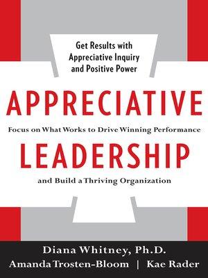 cover image of Appreciative Leadership