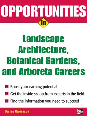 cover image of Opportunities in Landscape Architecture, Botanical Gardens and Arboreta Careers