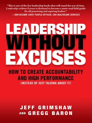 cover image of Leadership Without Excuses