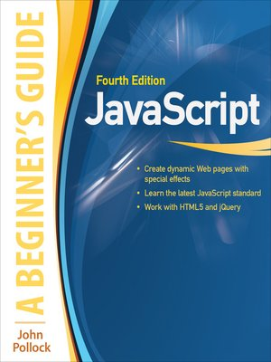 cover image of JavaScript A Beginners Guide 4/E